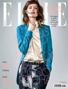Coco Rocha on the cover of Elle Mexico