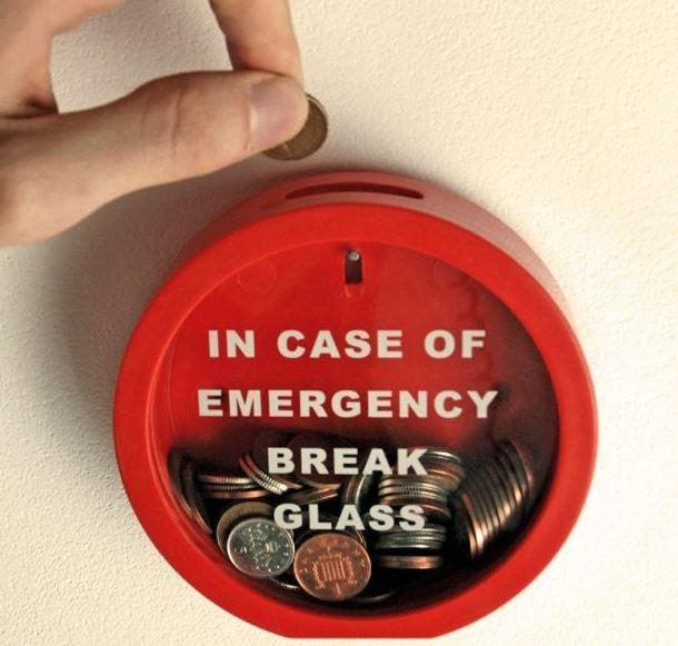 Emergency Glass Money Bank
