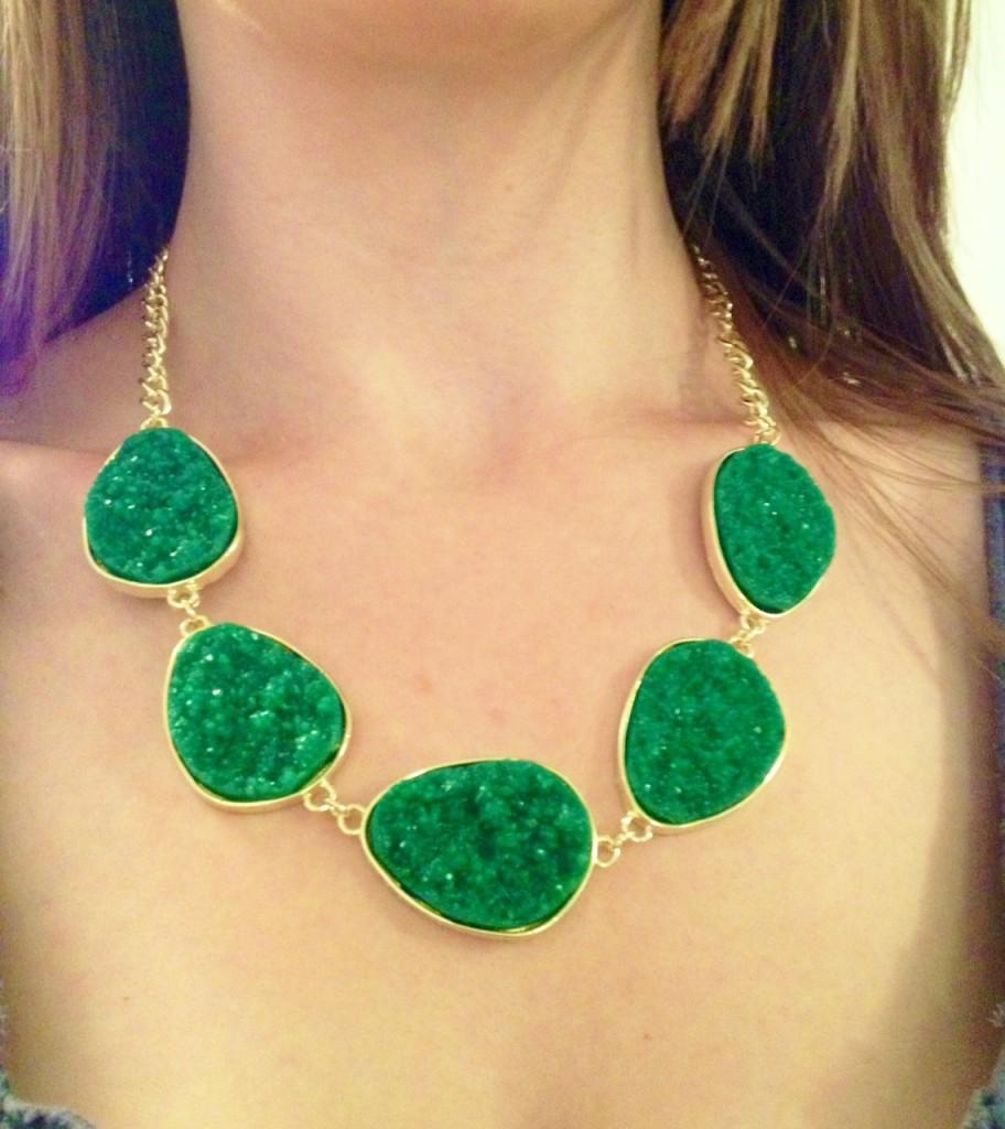 Green Statement Necklace