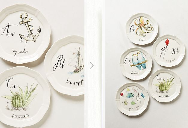 Gift guide 2013 10 and under jk style for Calligrapher canape plate anthropologie