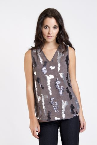 Dex Silver Snake Top