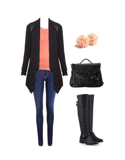 black cardigan 1