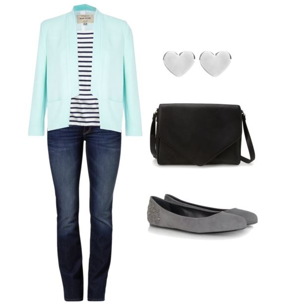 Jeans and Tee with Jacket