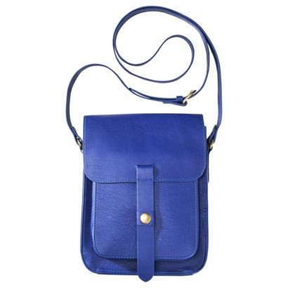 merona camera crossbody blue