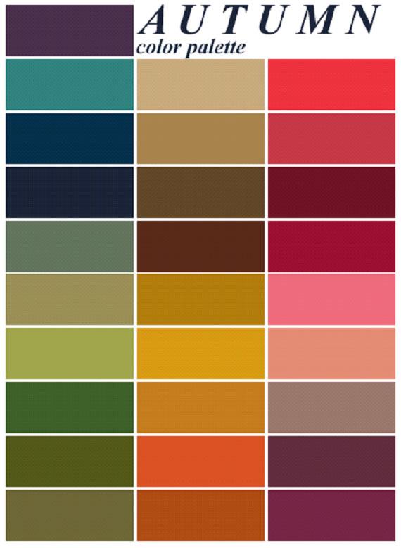Finding your best color - Autumn Color Me Beautiful Color Palette