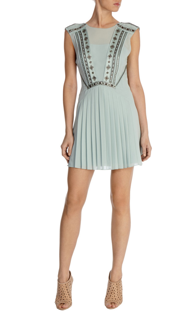 karen millen embellished pleated dress full