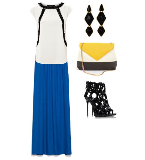 zara blue maxi skirt 2