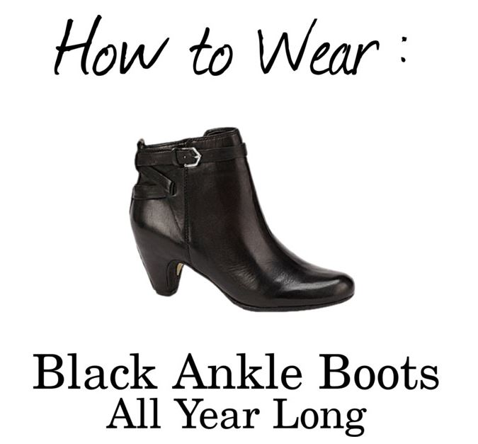 how to wear black ankle boots all year long