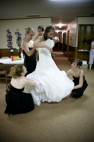 How many bridesmaids does it take to get dressed?