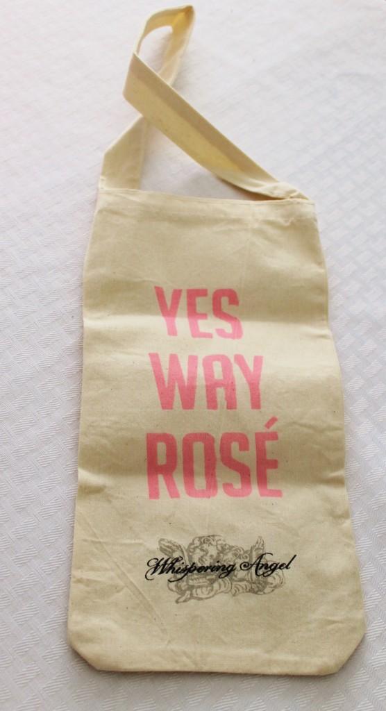 French box Whispering Angel wine bag
