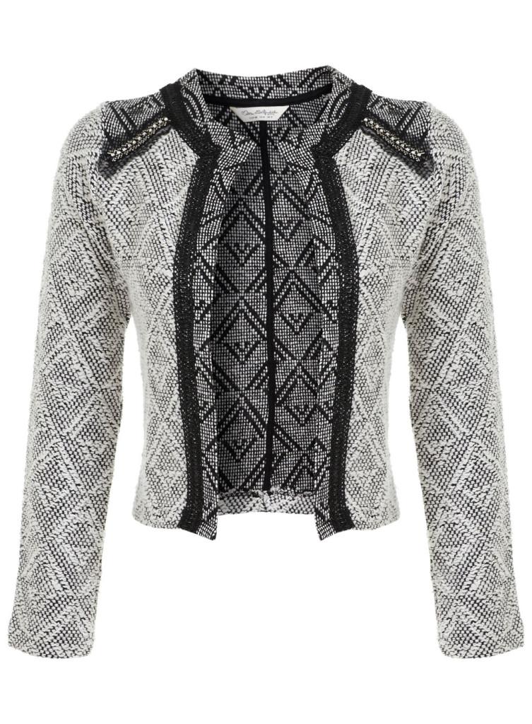 embellished boucle jacket