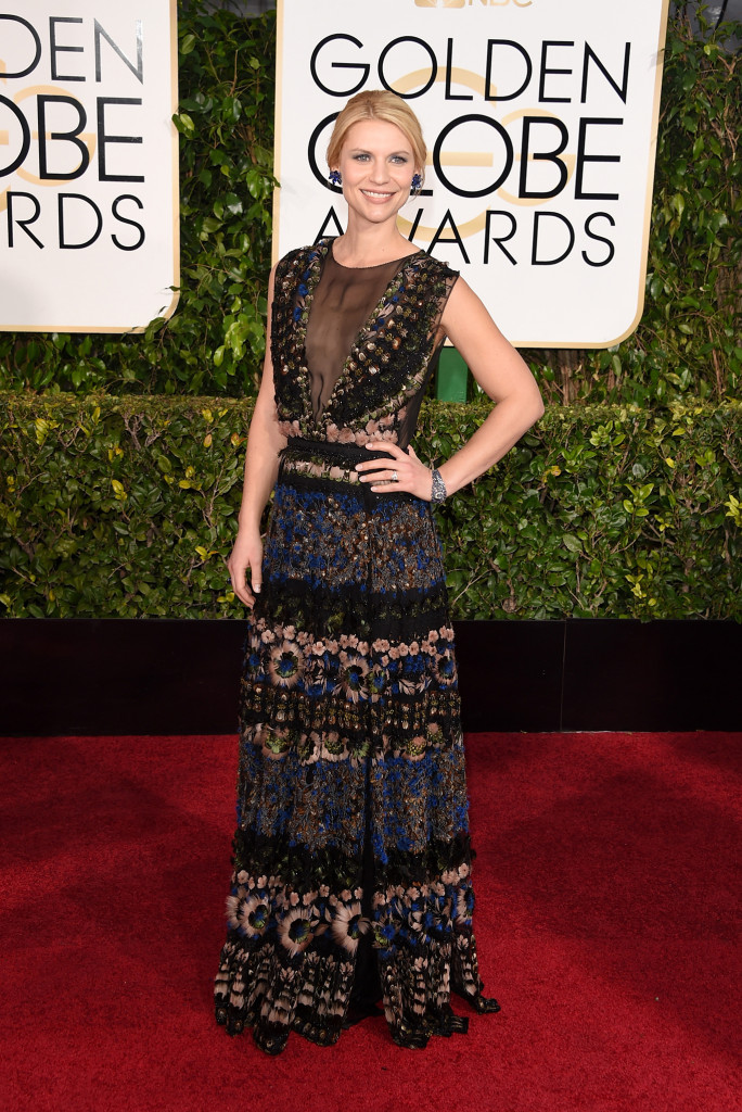 Claire Danes in Valentino Golden Globes 2015