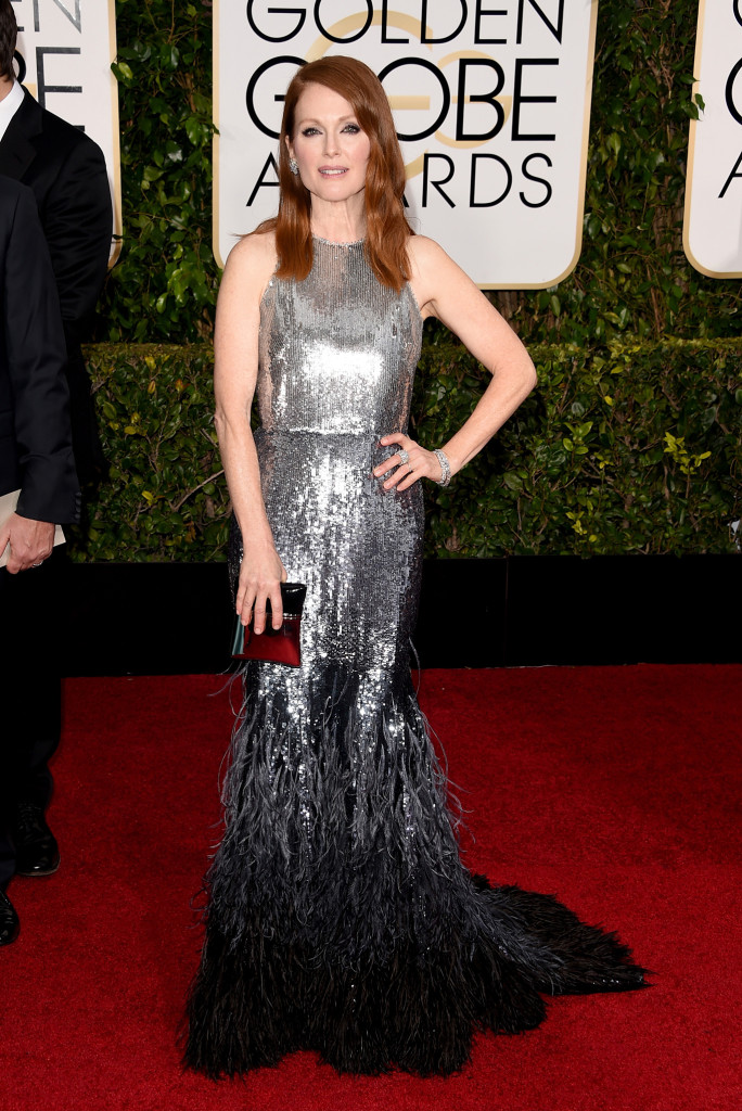 julianne moore in Givenchy Haute Couture Golden Globes 2015