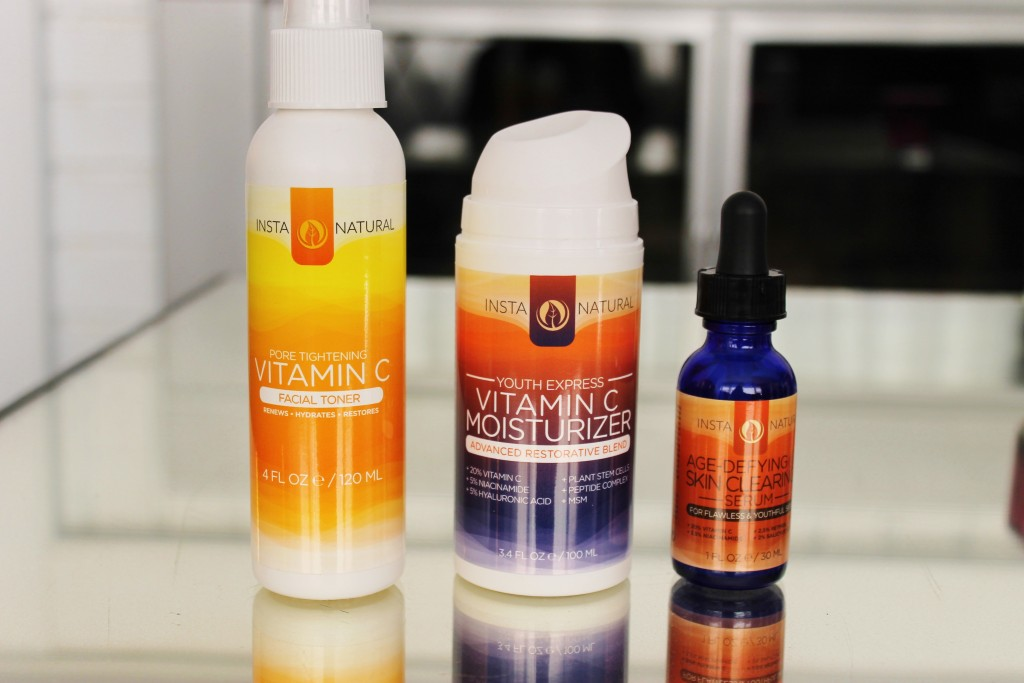 Instanatural Toner Vitamin C Moisturizer and Skin Clearing Serum