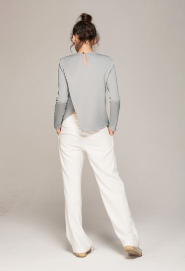 long sleeve asymetrical top