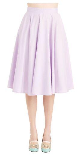 whimsical wonder skirt in lilac