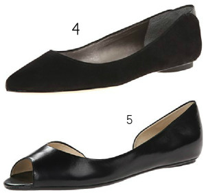 black flats set of 2