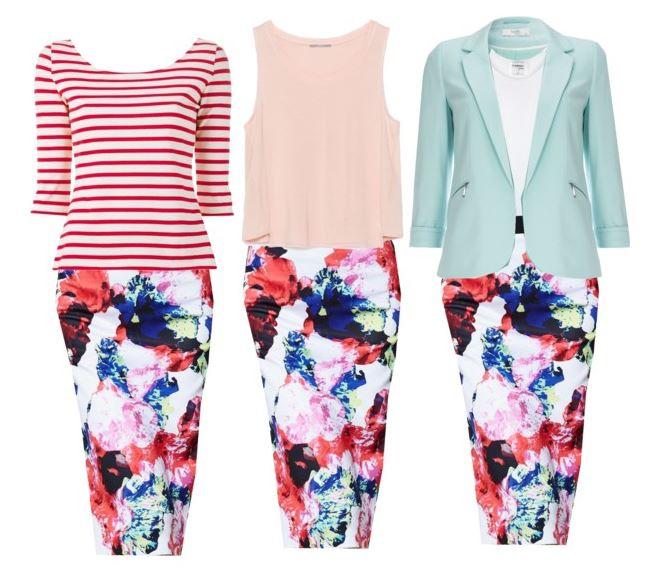 floral skirt for spring summer