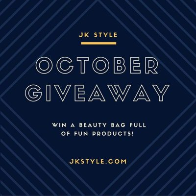 Having a little giveaway over on JK Style! (Link in profile.) #OctoberGiveaway