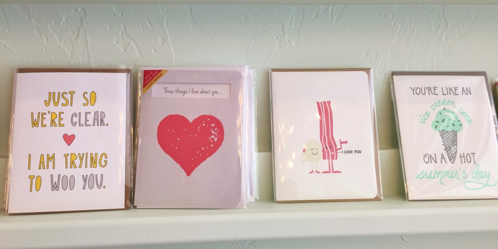 PostScript cards on shelf