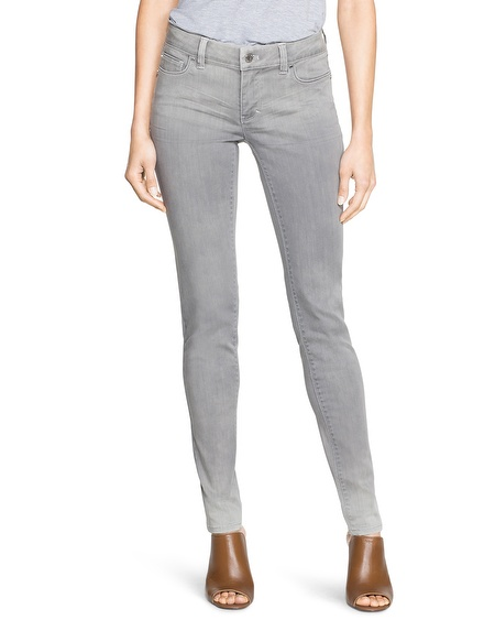 white house black market gray skinny jeans