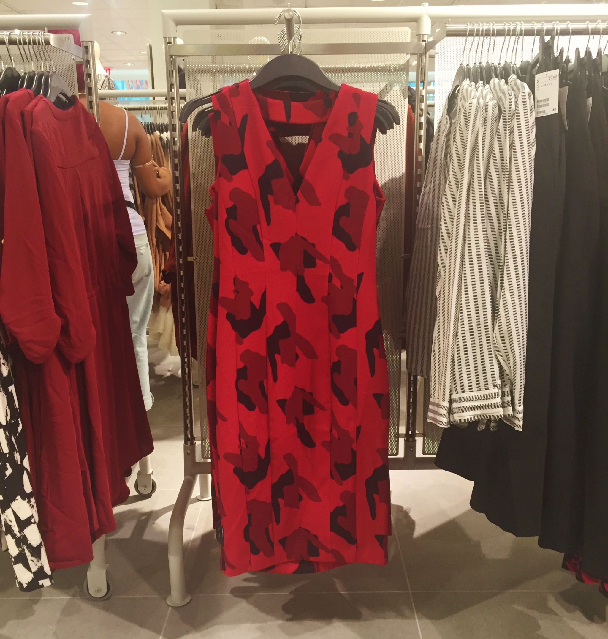 H&M okc grand opening red dress