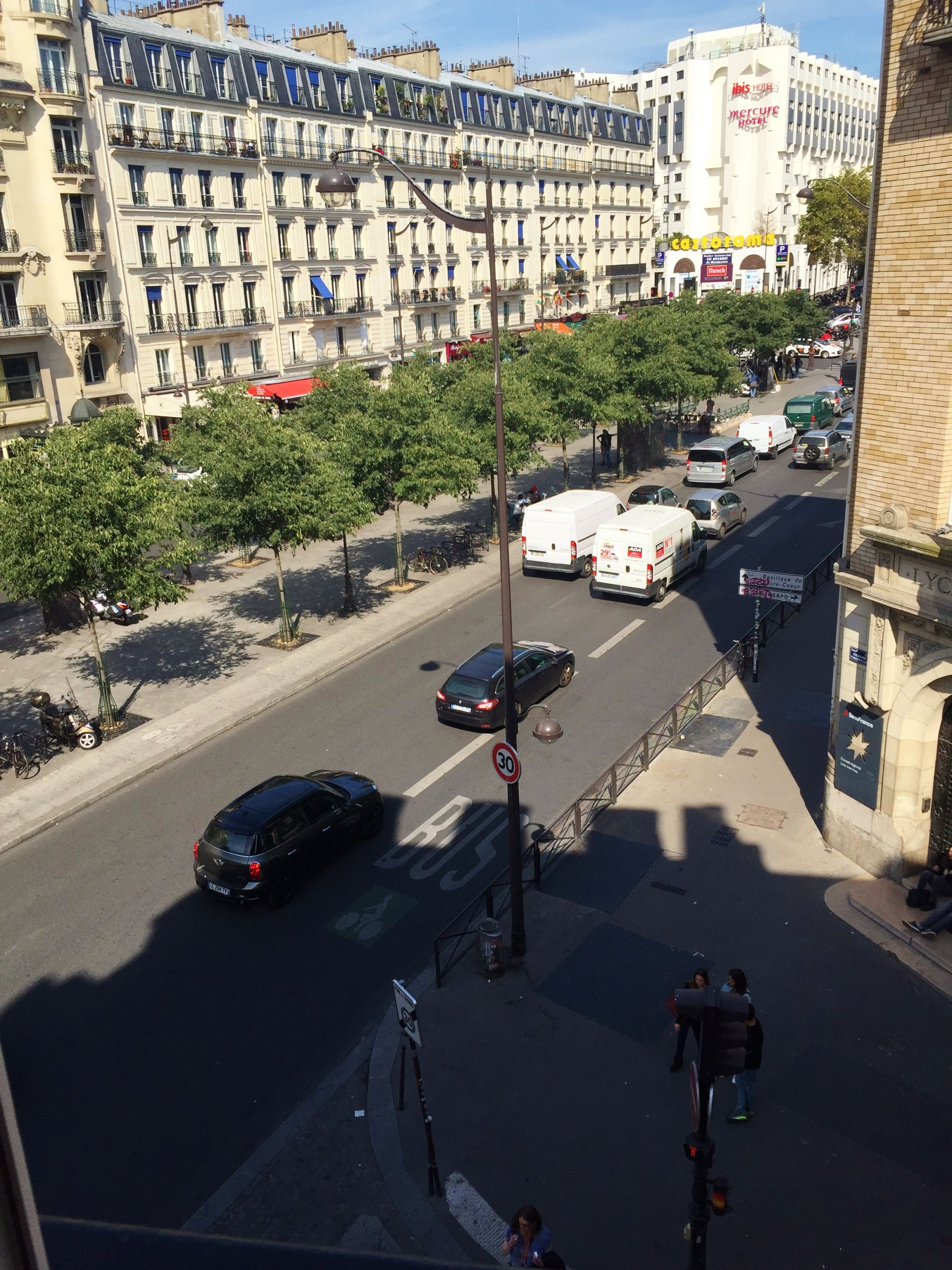 Paris highlights Best Western Alize view