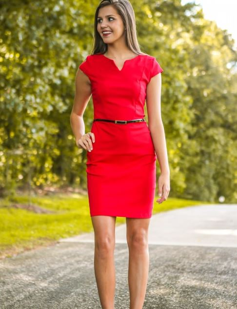 another day in the office dress - red