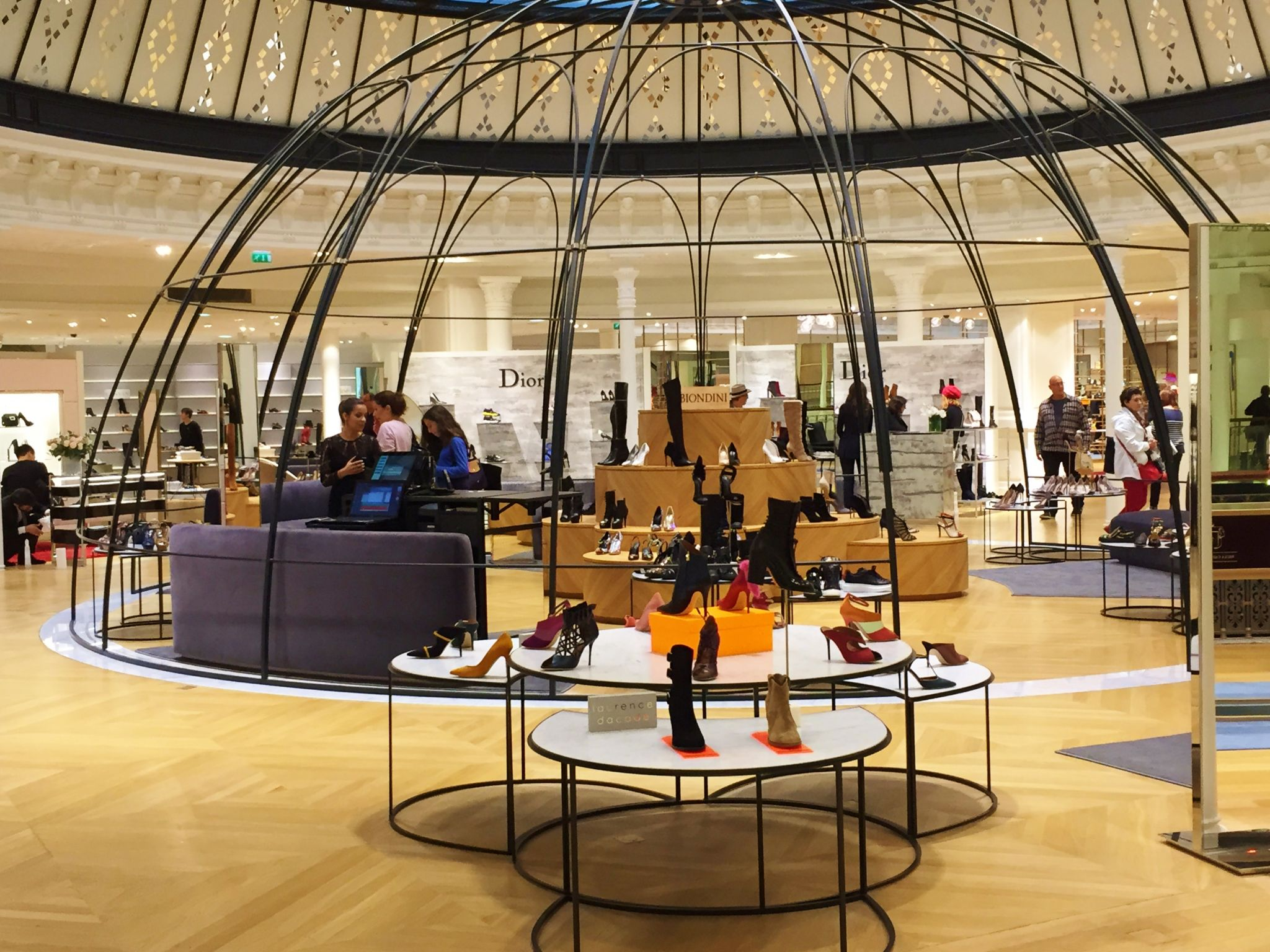 paris highlights day 2 le bon marche shoes