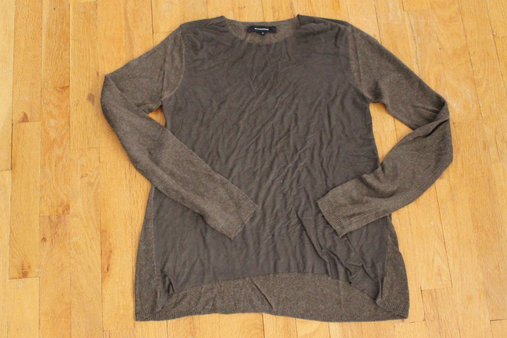 October Wantable Style Edit Olivaceous Faux Suede Front Top in Olive
