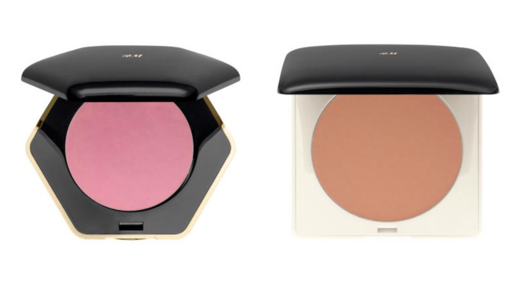 blush and bronzer