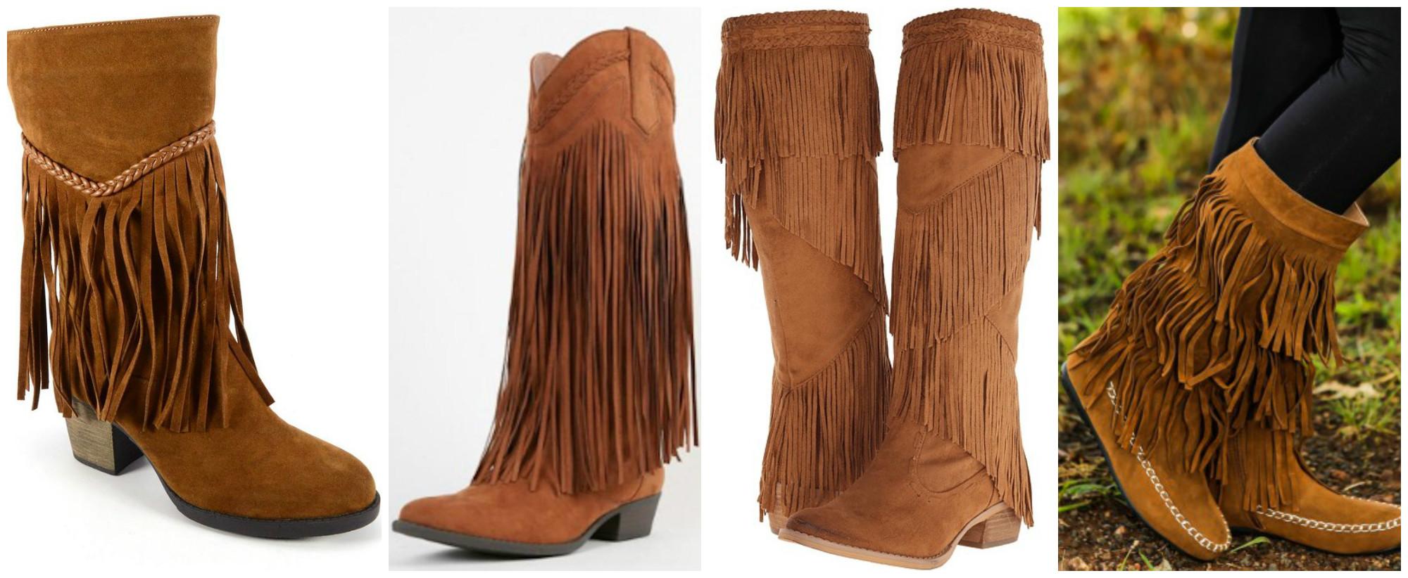 Wear it Wednesday: Fringe Boots - JK Style