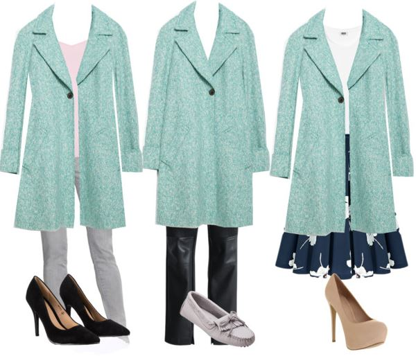 green coat styling