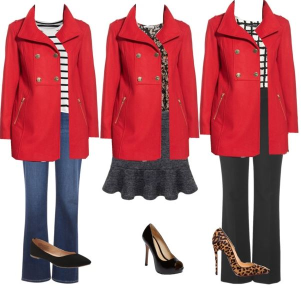 red coat styling