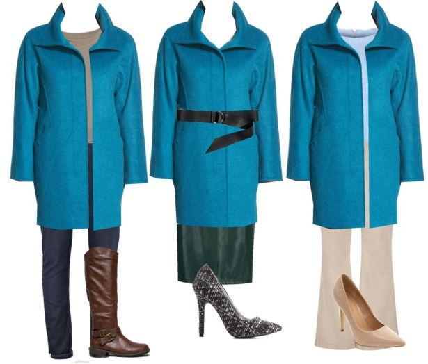 turquoise coat styling