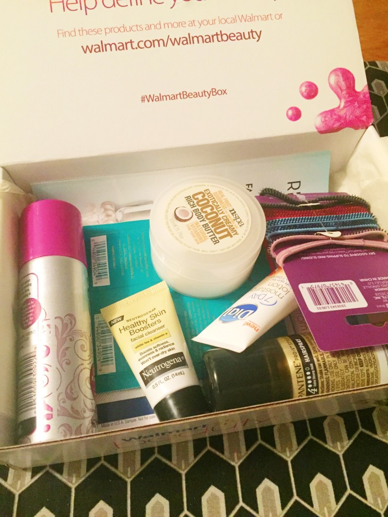 Winter 2015 Walmart Beauty Box items
