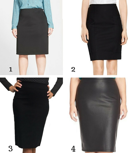 black pencil skirt 1