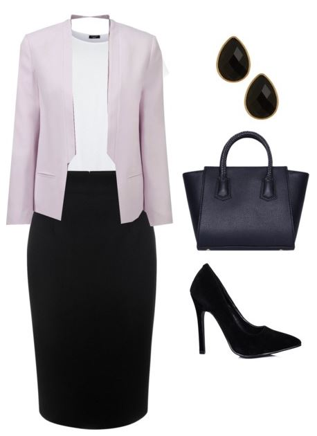 black pencil skirt styling 2