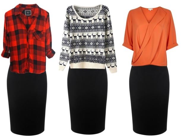 black pencil skirt styling bonus 2