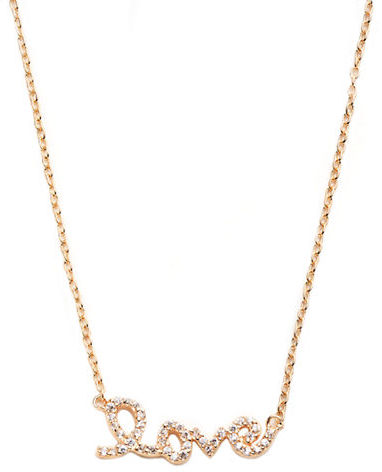 Pave Love Necklace