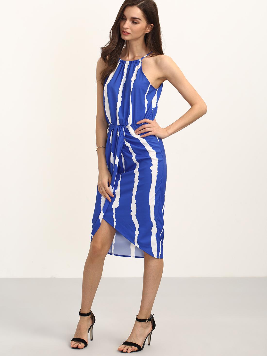 shein royal blue dress