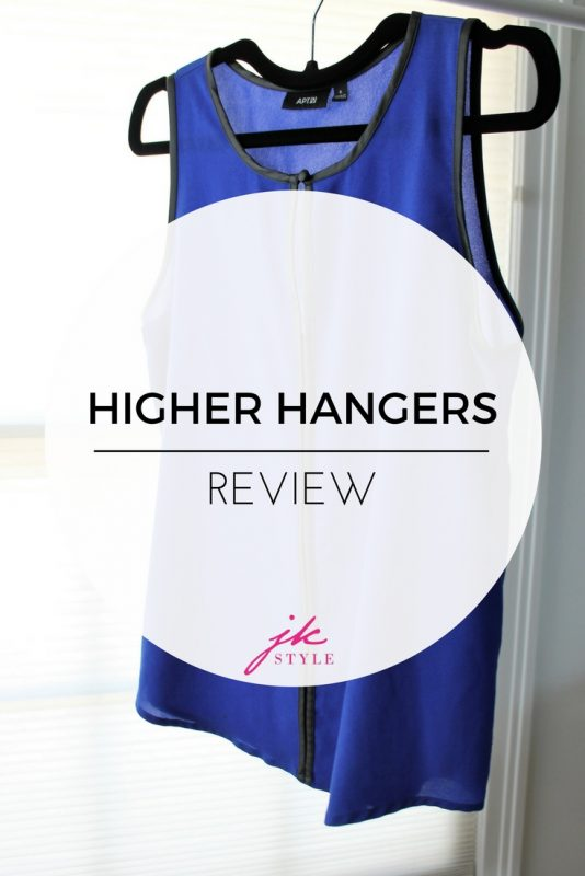 Higher Hangers review on JK Style - see how these hangers are helping to organize my closet!