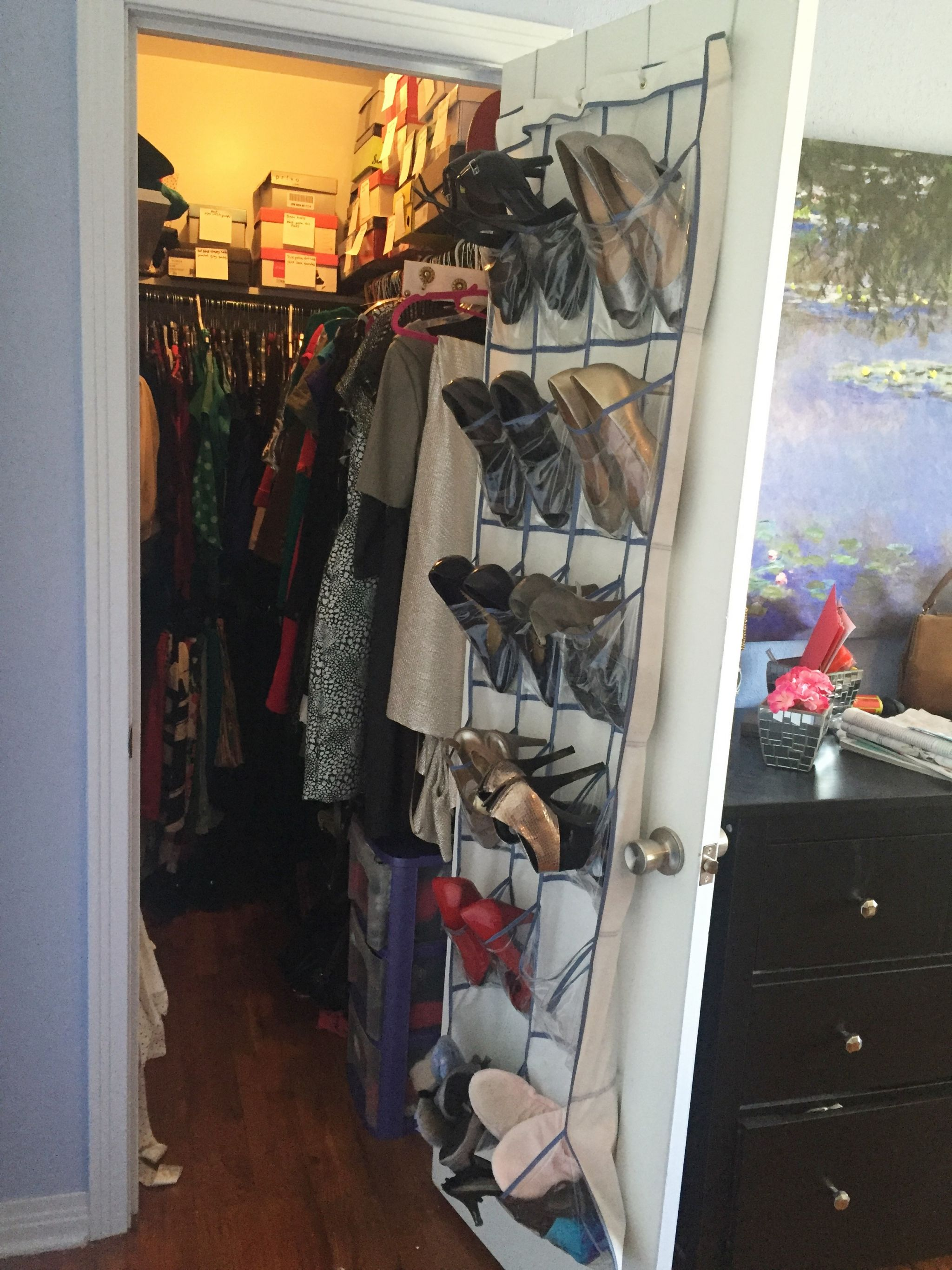 shoe storage over-the-door organizer