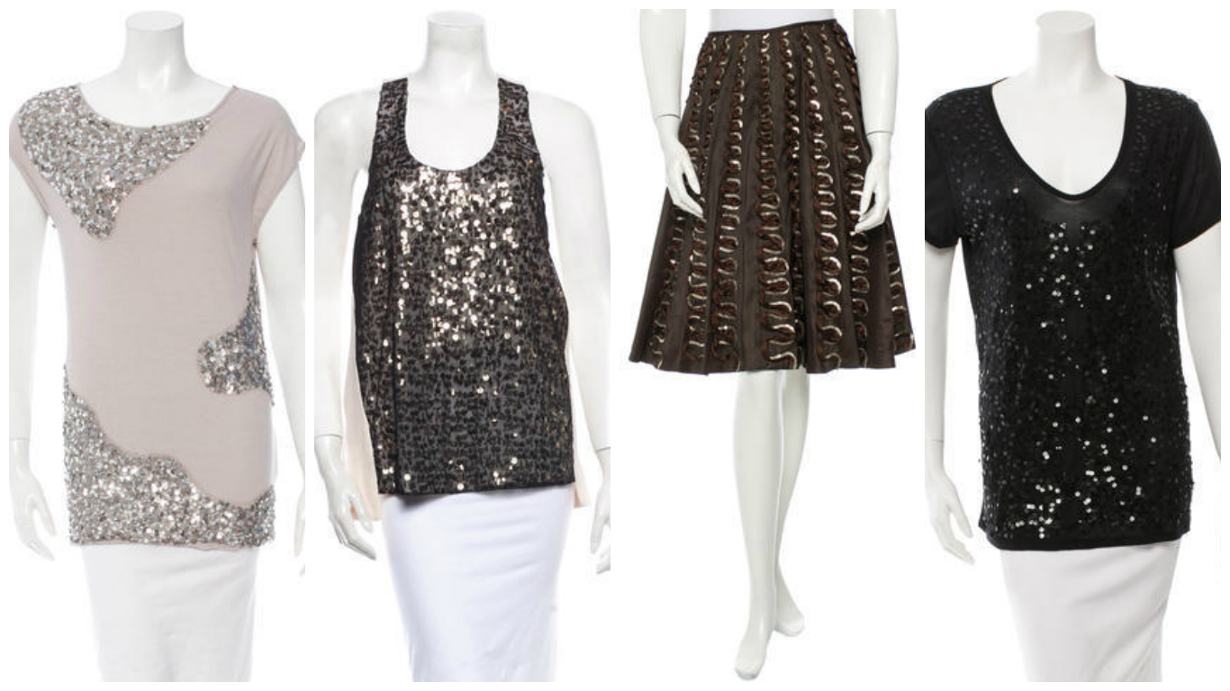 fashion over 30 sequined clothing