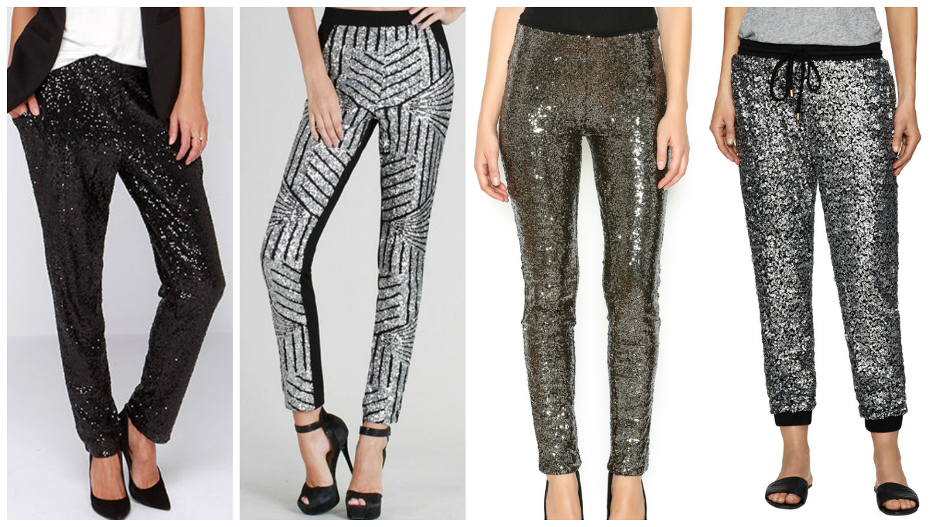 fashion over 30 sequined pants