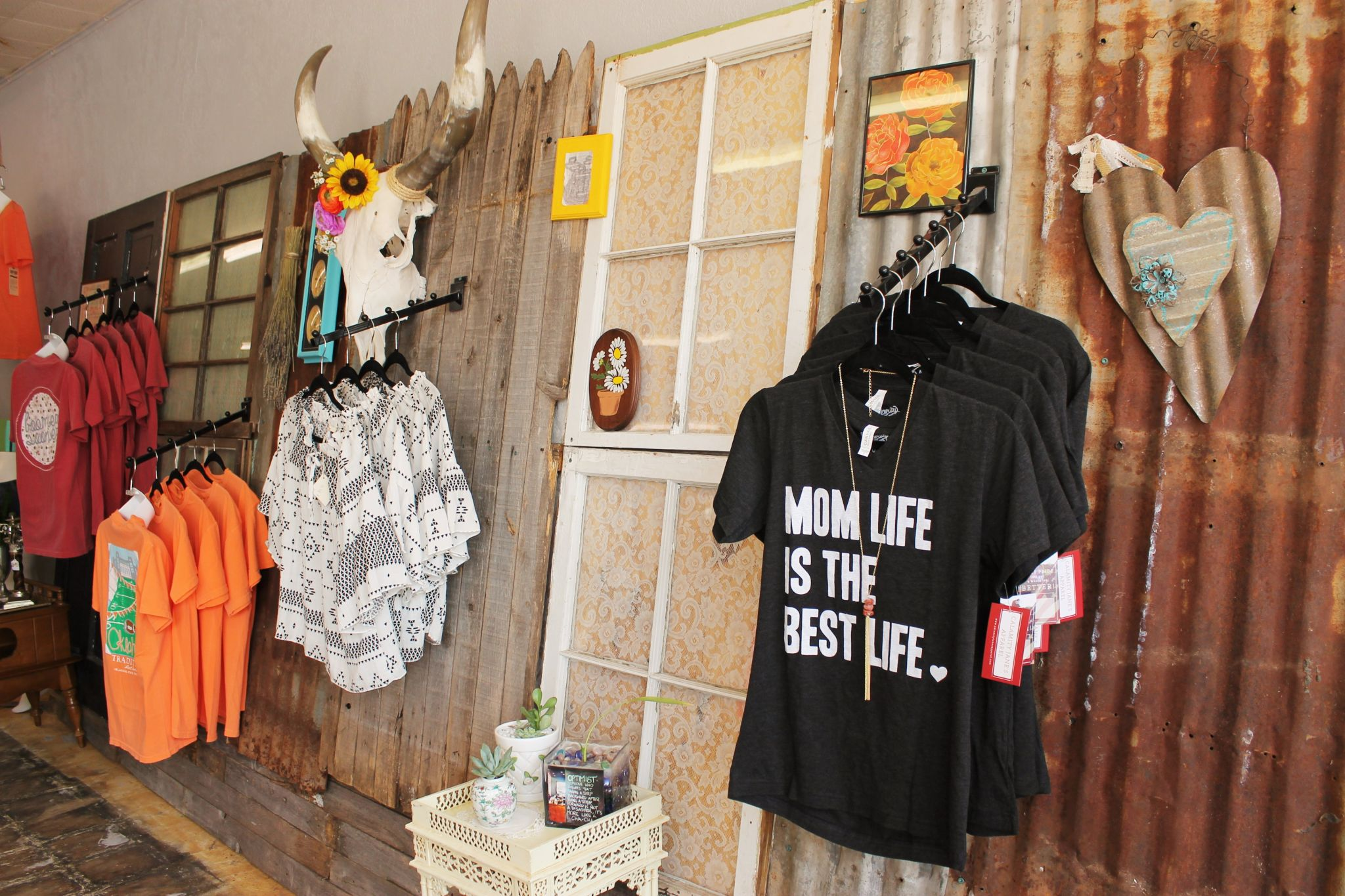 Clothing display at Southern Essence Boutique