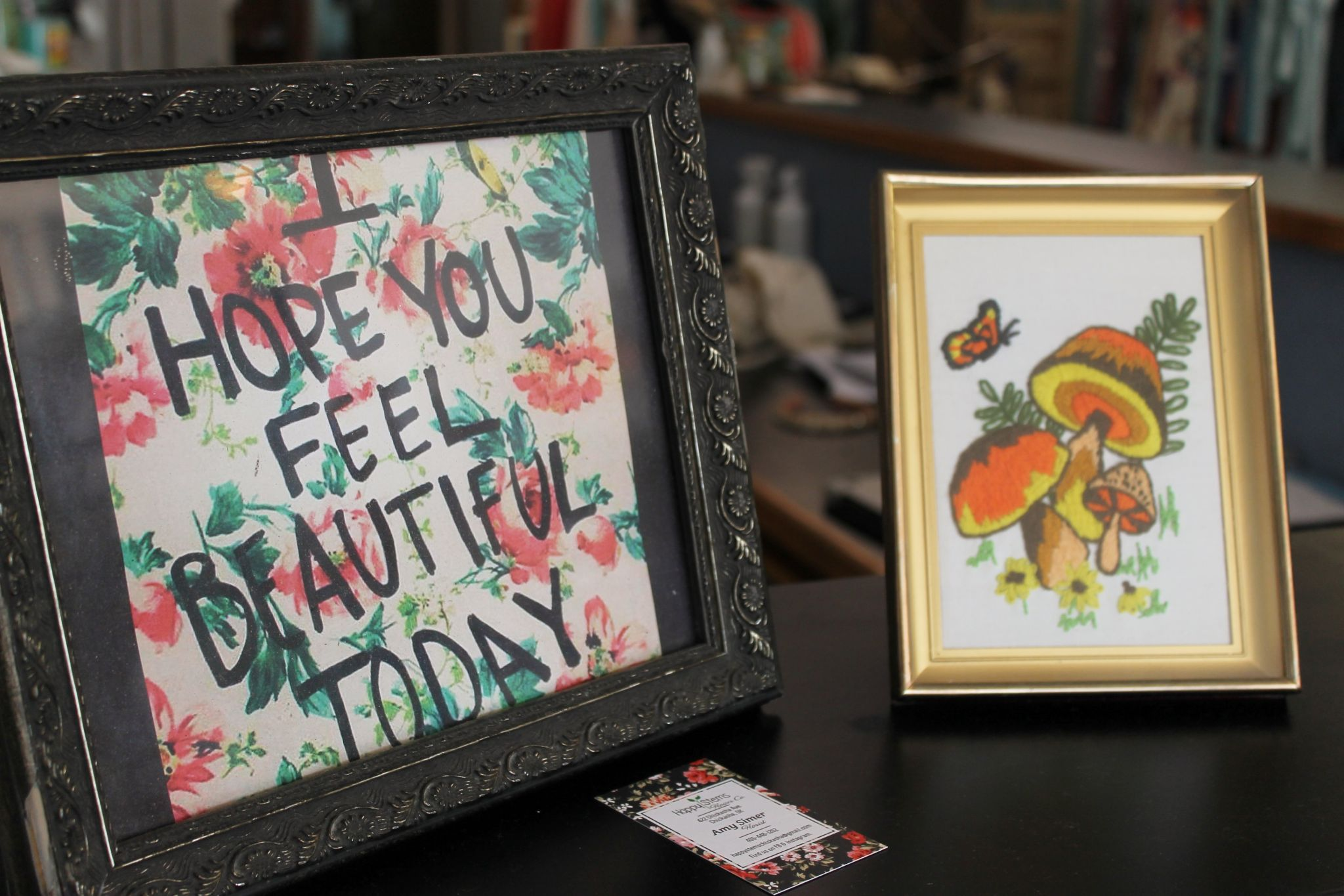 Feel Beautiful Sign at Southern Essence Boutique