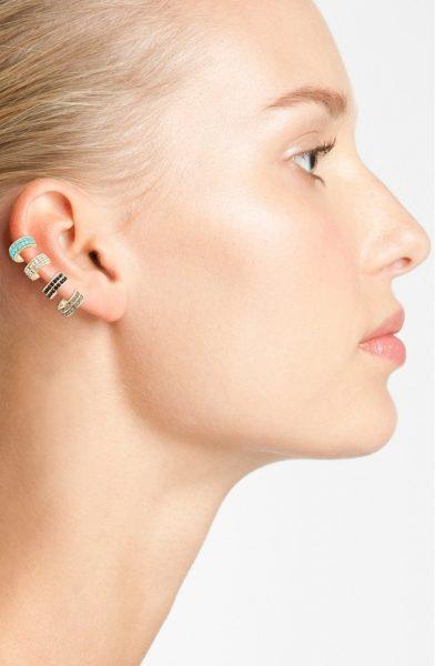 Fashion over 30 ear cuff on woman