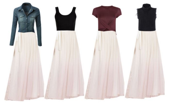 fashion over 30 Tulle maxi skirts