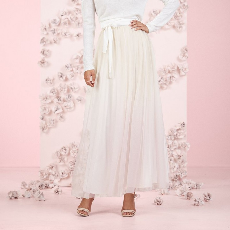 Fashion over 30 tulle maxi skirt